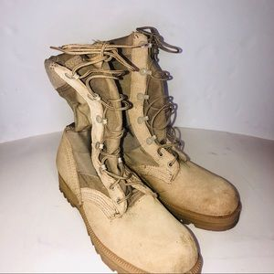 Military Desert Storm Vibram Tan Boots 8 Narrow